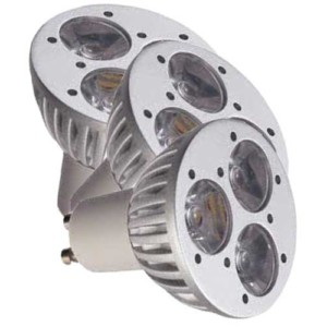 Λάμπα Led 3X1W GU10 High Power 3-3.500K
