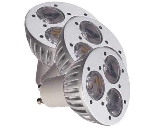 Λάμπα Led 3X1W GU10 High Power 3-3.500K
