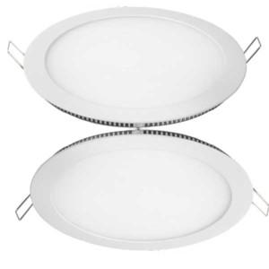 LED Πάνελ Χωνευτό Στρογγυλό Φωτιστικό Οροφής Λευκό 18W 3000K