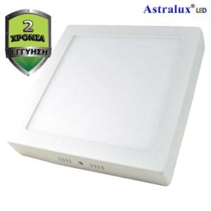 029580200-127-LED Πάνελ Οροφής ή Επίτοιχο Τετράγωνο Φωτιστικό 4000K 18W