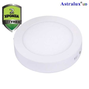 LED Πάνελ Οροφής Επίτοιχο ή Στρογγυλό Φωτιστικό 6500K 18W