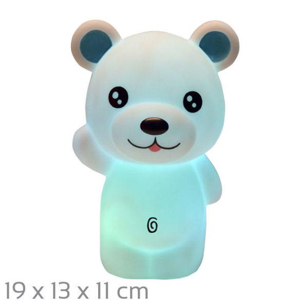 55197102-0045-Heitech 04000419 BAR Φωτάκι νυκτός LED αρκουδάκι