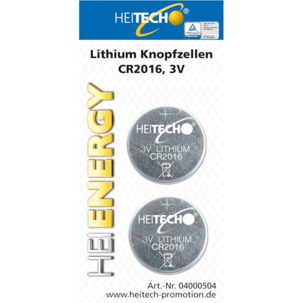 5519710-0004-Heitech 04000504 Μπαταρίες λιθίου 2 τμχ CR 2016 75 mAh 3 V