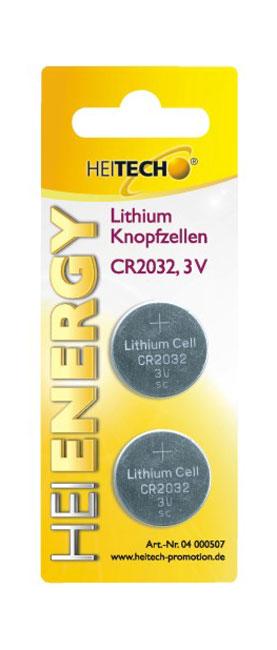 5519710-0006-Heitech 04000507 Μπαταρίες λιθίου 2 τμχ CR 2032 210 mAh 3 V