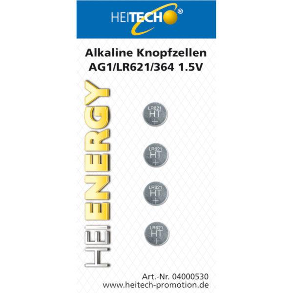 5519710-0008-Heitech 04000530 Αλκαλικές μπαταρίες 4 τμχ LR621