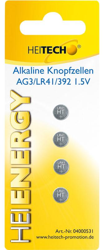 5519710-0009-Heitech 04000531 Αλκαλικές μπαταρίες 4τμχ LR41