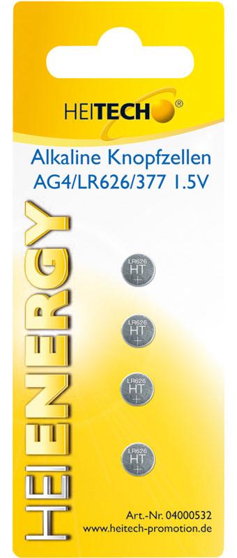 5519710-0010-Heitech 04000532 Αλκαλικές μπαταρίες 4 τμχ LR626
