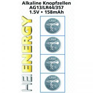 Heitech 04000537 Αλκαλικές μπαταρίες 4 τμχ AG13 / LR44 / 357 1.5 V