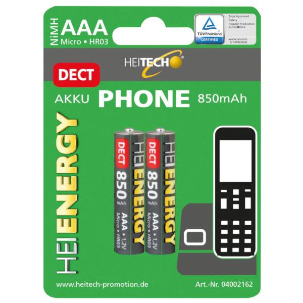 5519710-0046-Heitech 04002162 Επαναφορτιζόμενες μπαταρίες για ασύρματα τηλέφωνα ΑΑΑ / LR03 / Micro