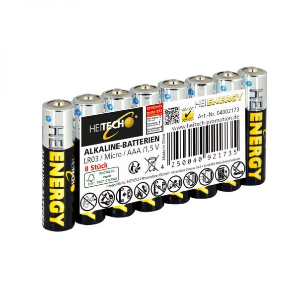 5519710-0050-Heitech 04002173 Αλκαλικές μπαταρίες 8 τμχ Micro AAA