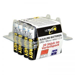 5519710-0051-Heitech 04002175 Αλκαλικές μπαταρίες 20 τμχ Micro AAA