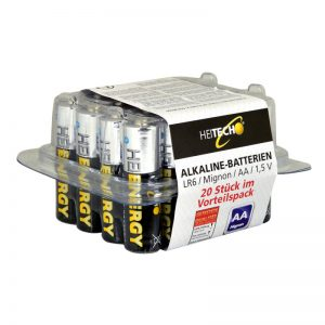 5519710-0052-Heitech 04002176 Αλκαλικές μπαταρίες 20 τμχ Mignon AA