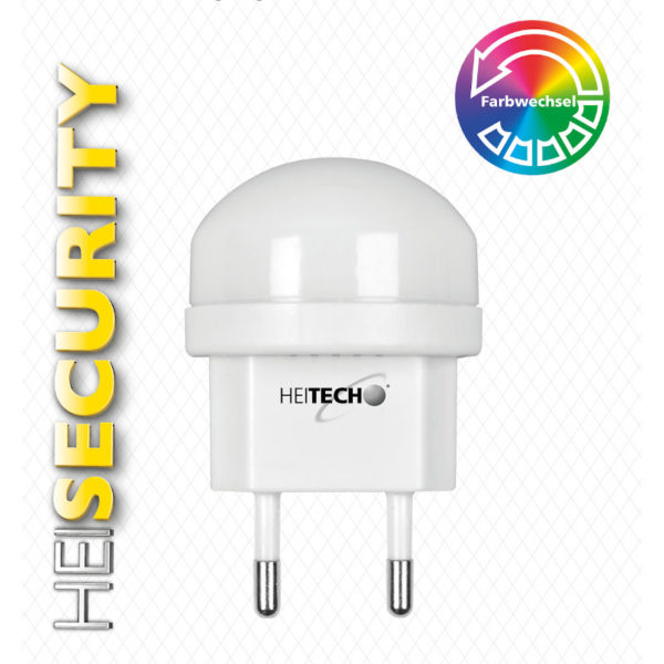 55197102-0059-Heitech 04002225 Φωτάκι νυκτός LED με αυτόματη αλλαγή χρωμάτων