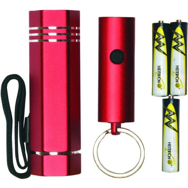 55197102-0010-Heitech 04002828 Σετ φακού LED και φακού LED μπρελόκ