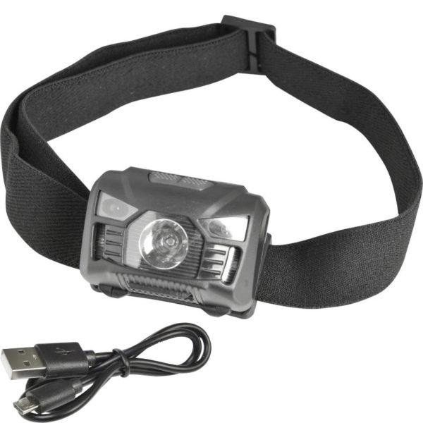 55197102-0056-Heitech 04003642 Επαναφορτιζόμενος φακός κεφαλής COB LED με αισθητήρα κίνησης 3 W