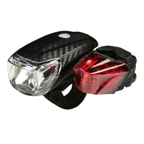 55197102-0062-Heitech 04003501 Σετ LED φώτα αδιάβροχα ποδηλάτου λευκό – κόκκινο