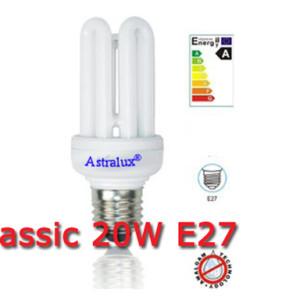 Λάμπα Οικονομίας Classic 4U Short 20W E27