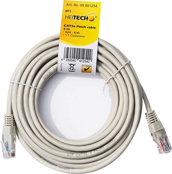 55197100-0057-Heitech 09001254 Καλώδιο δικτύου Cat5e RJ45 σε RJ45 5 m