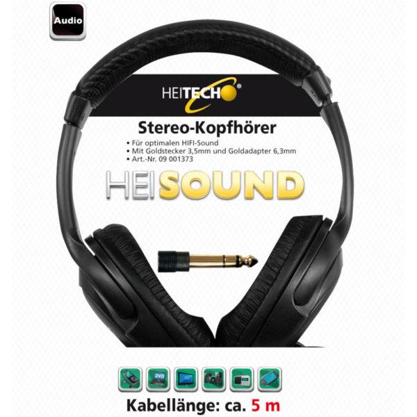 5519791-0024-Heitech 09001373 Στερεοφωνικά ακουστικά με 5 μέτρα καλώδιο