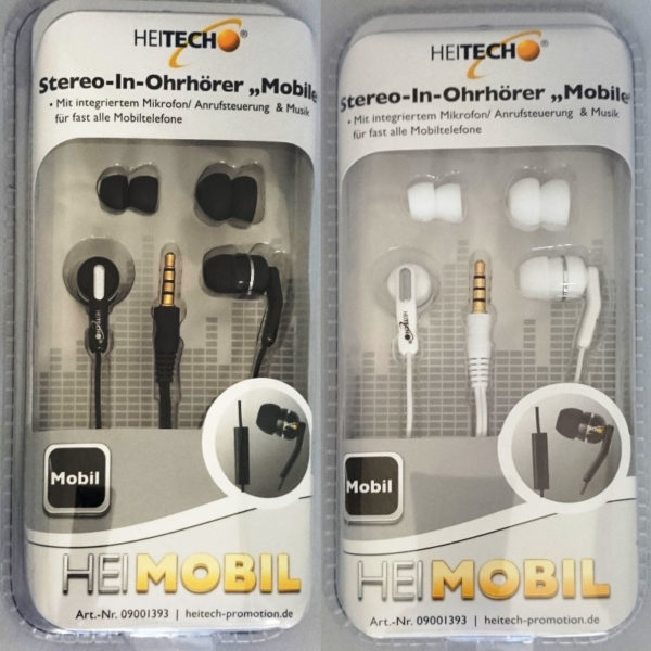 5519791-0025-Heitech 09001393 Στερεοφωνικά ακουστικά Hands Free με μικρόφωνο