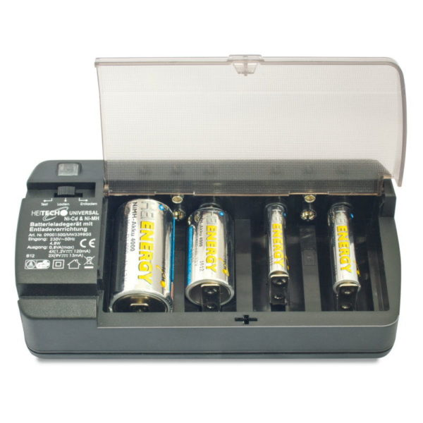 5519710-0020-Heitech 09001500 Universal φορτιστής μπαταριών NiCd + NiMH