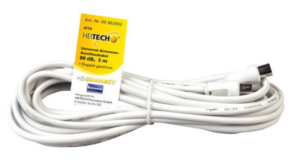 55197100-0056-Heitech 09002002 Ομοαξονικό καλώδιο κεραίας αρσενικό σε θηλυκό 5 m