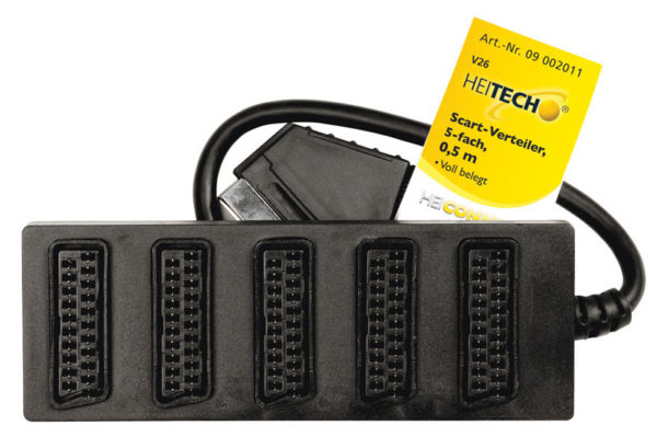 55197100-0019-Heitech 09002011 Αντάπτορας αρσενικό SCART σε 5 θηλυκά SCART