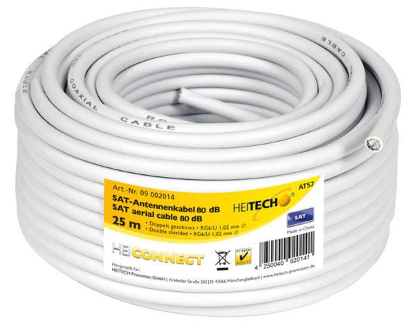 55197100-0021-Heitech 09002014 Ομοαξονικό καλώδιο κεραίας 25 m