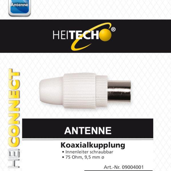 55197100-0067-Heitech 09004001 Βύσμα ομοαξονικού καλωδίου κεραίας θηλυκό