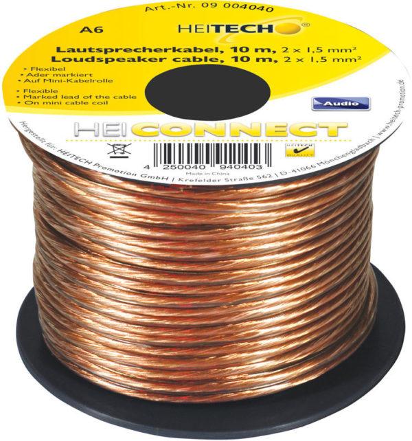 55197100-0078-Heitech 09004040 Εύκαμπτο καλώδιο ηχείων 10 m