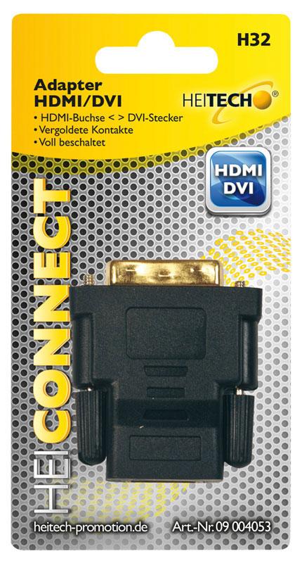 55197100-0079-Heitech 09004053 Αντάπτορας HDMI σε DVI-A