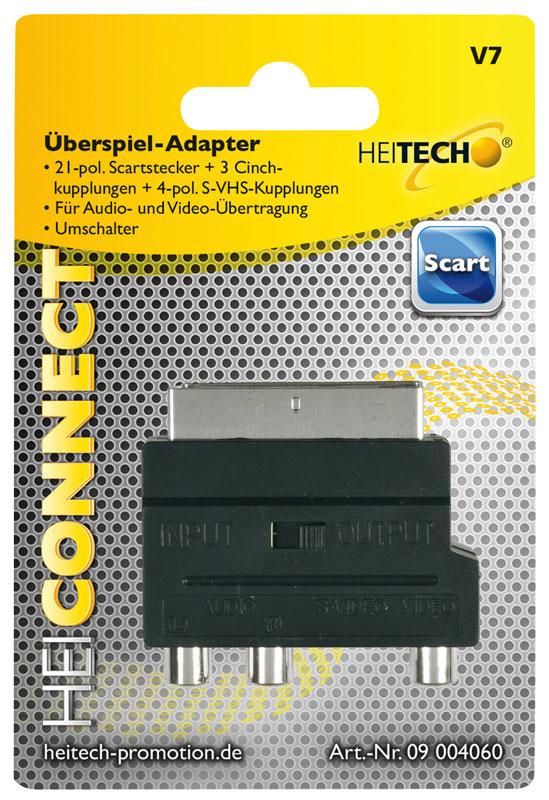 55197100-0080-Heitech 09004060 Αντάπτορας RCA σε SCART