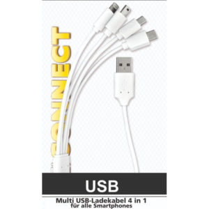 55197100-0117-Heitech 09004092 Αντάπτορας 4 σε 1 USB σε USB Type C / micro USB / mini USB / Lightning