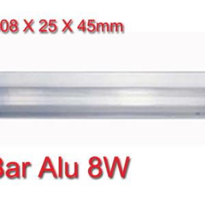 Φωτιστικό Επίπλων Φθορισμού 8W Bar Alu