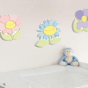Ango 11203 - Smiling Flowers αφρώδη αυτοκόλλητα 3 επιπέδων