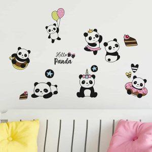 Ango 11217 - Pandaδιακοσμητικά αυτοκόλλητα διπλής όψης για τζάμι ή τοίχο L