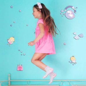 Ango 14503 - Happy Fairies αυτοκόλλητα 3 επιπέδων - Medium μέγεθος
