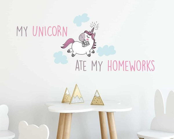 Ango 15105 - My Unicorn διακοσμητικά αυτοκόλλητα τοίχου ML μέγεθος