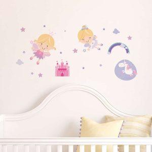 Ango 15109 - Happy Fairies διακοσμητικά αυτοκόλλητα τοίχου ML μέγεθος