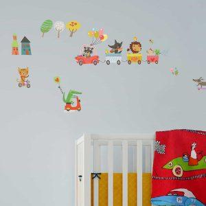 Ango 15112 - Animal Highway διακοσμητικά αυτοκόλλητα τοίχου ML μέγεθος