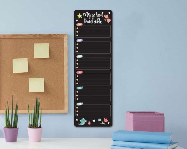 Ango 15203 - Blackboard Week Girl διακοσμητικά αυτοκόλλητα τοίχου ML μέγεθος