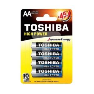 Αλκαλικές μπαταρίες Toshiba High Power 2Α Μικρές 4 τμχ. +45% Ενέργεια