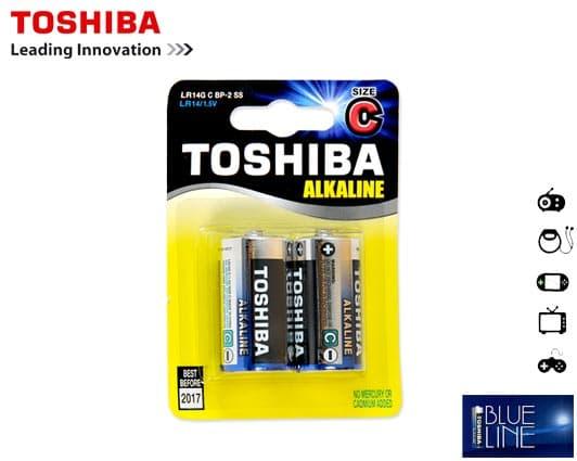 Μπαταρίες TOSHIBA LR 14 (C) Αλκαλικές Μεσαίες 2 Τεμάχια