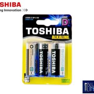 Μπαταρίες TOSHIBA LR 20 (D) Αλκαλικές Μεγάλες 2 Τεμάχια