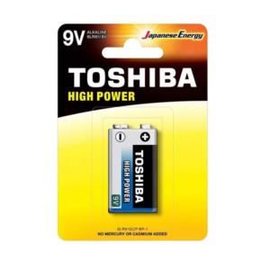 155250-564-Αλκαλική μπαταρία Toshiba High Power 9V - 6LR61 Πλακέ 1 τμχ
