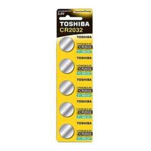 Μπαταρία Λιθίου Toshiba 3.0V - CR2032 Νόμισμα 5 τμχ