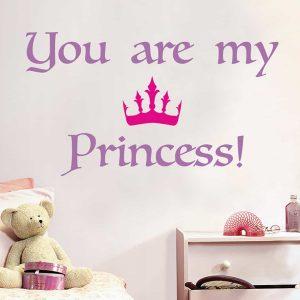 Ango 16201 - Princess διακοσμητικά αυτοκόλλητα με μήνυμα τοίχου L