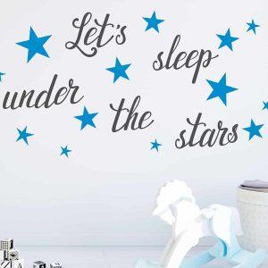 Ango 16210 - Lets Sleep διακοσμητικά αυτοκόλλητα με μήνυμα τοίχου L