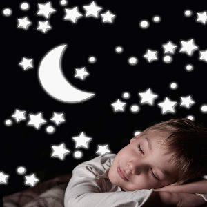 Ango 18003 - White Stars αφρώδη αυτοκόλλητα που φωσφορίζουν στο σκοτάδι