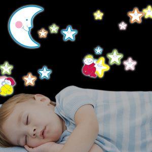 Ango 18004 - Smiling Stars αφρώδη αυτοκόλλητα που φωσφορίζουν στο σκοτάδι
